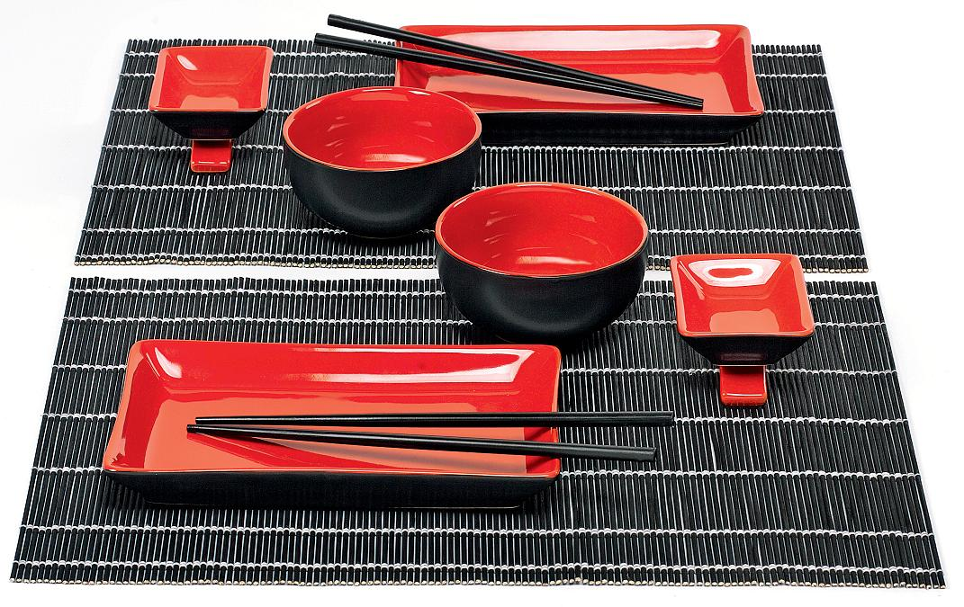 sushi set mit st bchen japan geschirr tafelservice china asia kombiservice ebay. Black Bedroom Furniture Sets. Home Design Ideas