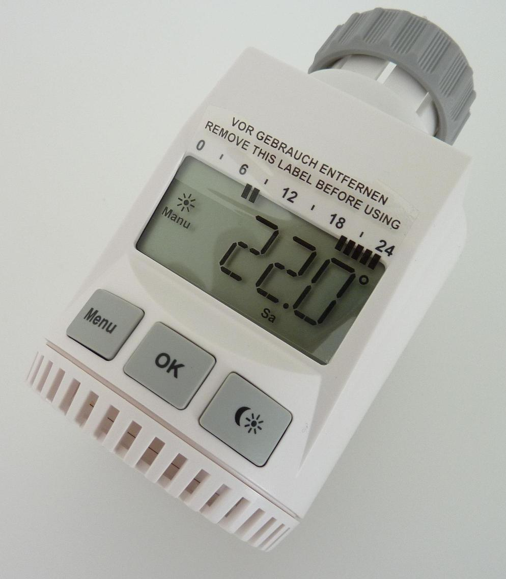 heizk rper thermostat heizungs regler digital heizk rperregler heizungsventil ebay. Black Bedroom Furniture Sets. Home Design Ideas
